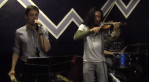 A piano/vocals teacher and violin teacher playing Stuck in the Middle